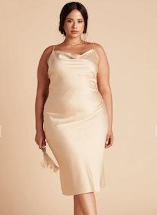 Lisa Satin Midi Dress Curve