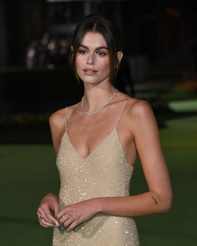 Us actress/model Kaia Gerber arrives for the Academy Museum of Motion Pictures opening gala on Septe...