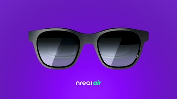 Nreal Air AR glasses with adjustable viewing angles
