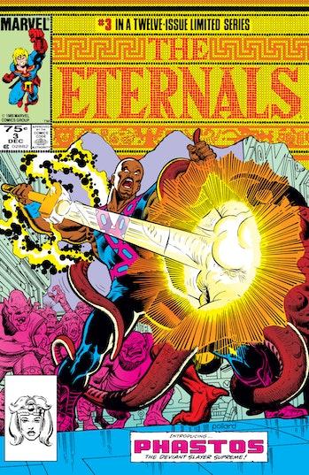 phastos eternals marvel comics 1985 cover