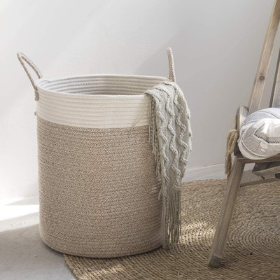 LA JOLIE MUSE Woven Basket Rope Storage Basket