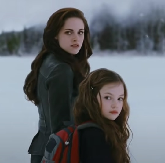 "Still from ""Twilight Saga: Breaking Dawn Part II"", Bella and Renesmee"