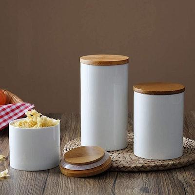 Xiteliy Ceramic Canister Set (3-Pack)