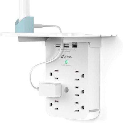 Mifaso Multi Plug Surge Protector with Shelf
