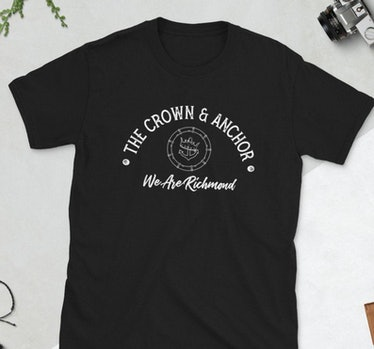 This Crown and Anchor shirt references something from 'Ted Lasso' and is available on Etsy.