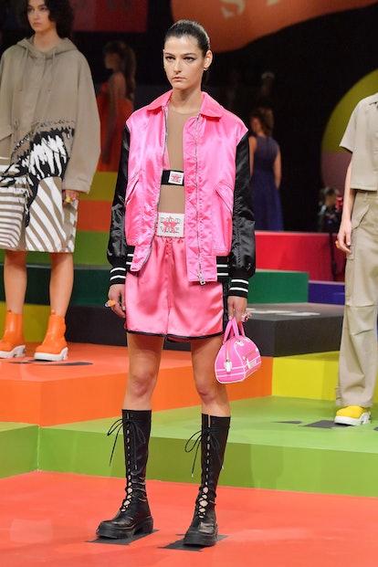 Model in Dior's Spring/Summer 2022 runway show.