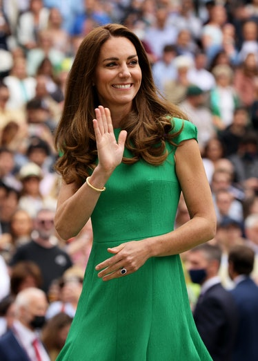Catherine, The Duchess of Cambridge at the Ladies' Singles Final match prize ceremony of Ashleigh Ba...