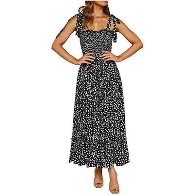 R.Vivimos Ruffle Midi Dress