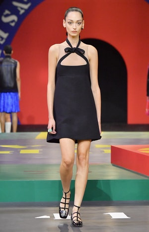 A model walks the runway during the Dior Womenswear Spring/Summer 2022 show as part of Paris Fashion...