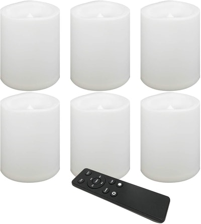 Candle Choice Waterproof Battery-Operated Flameless Candles (6-Pack)