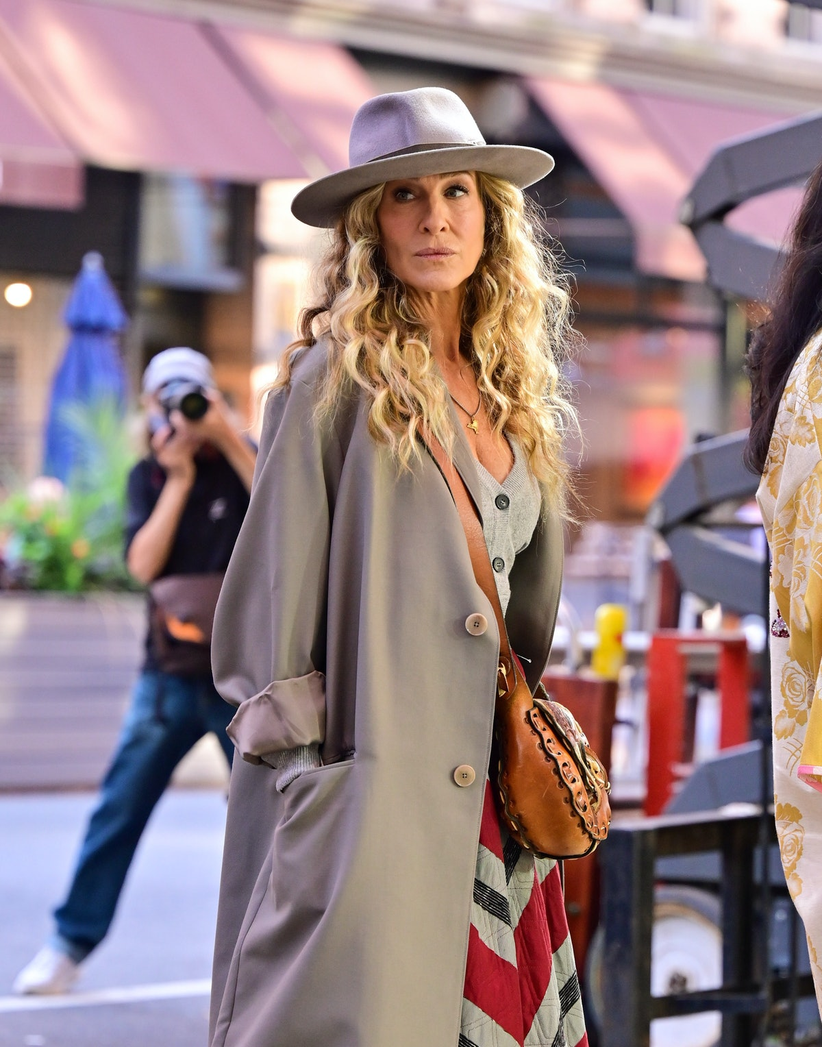 """Sarah Jessica Parker on the """"And Just Like That..."""" set"""