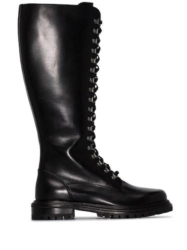 Aquazzura leather knee-high combat boots