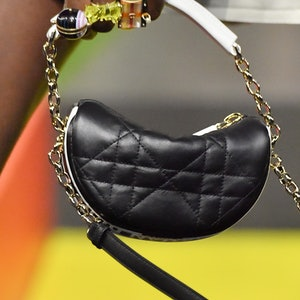 A model (bag detail) walks the runway during the Dior Womenswear Spring/Summer 2022 show as part of ...