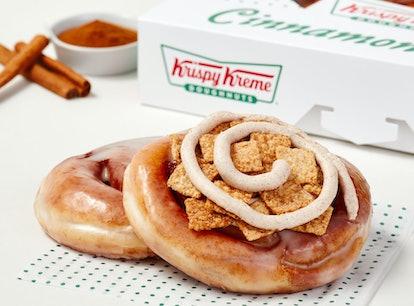 Krispy Kreme's new Cinnamon Rolls come in two tasty flavors.