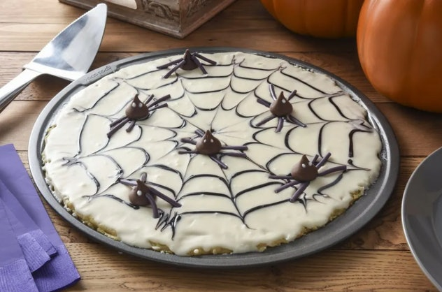 Halloween cookie pizza is one Halloween pizza idea to try.