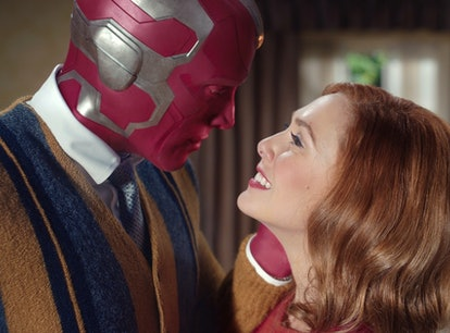 Wanda and Vision from Wandavision make a great couples Halloween costume.