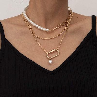 Denifery Layered Choker Necklace