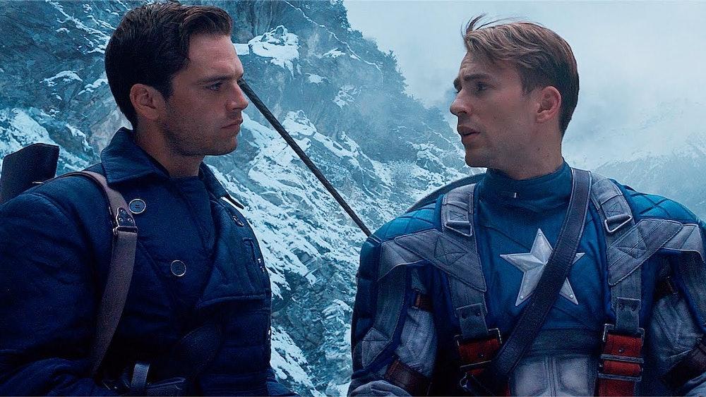 Steve Rogers and Bucky Barnes in Captain America: The First Avenger.
