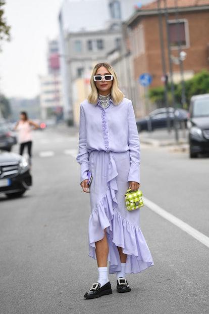 Street style at Milan Fashion Week Spring 2020.
