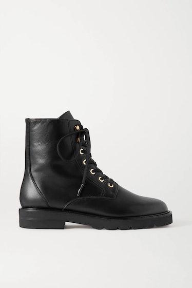 Mila Leather Ankle Boots Stuart Weitzman