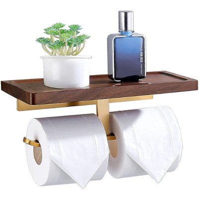 Amoowis Toilet Paper Holder with Shelf