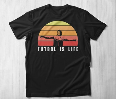 """This """"futbol is life"""" shirt is one of many 'Ted Lasso' shirts on Etsy you can buy."""