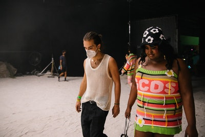 Behind the scenes of GCDS' Spring 2022 fashion film.