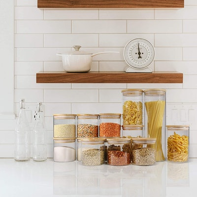 EcoEvo Glass Jars with Bamboo Lids