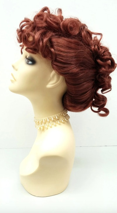 Red Curly Updo Wig