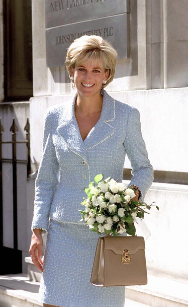 Diana, Princess Of Wales, Leaving The British Lung Foundation In Hatton Garden After Being Presente...