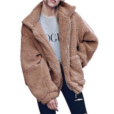 PRETTYGARDEN Shearling Coat