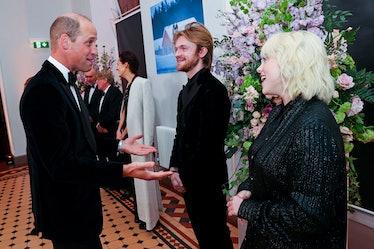 Prince William, Finneas, and Billie Eilish