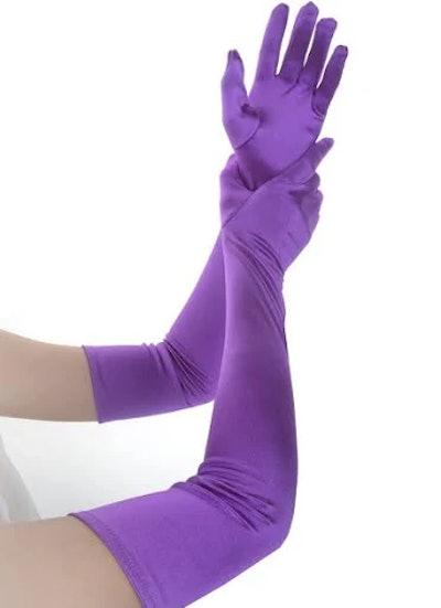 Women 1920s Satin Gloves