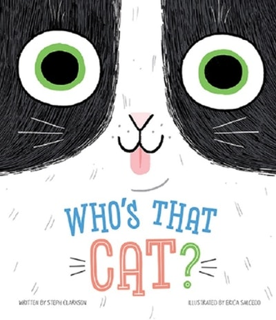 """'Who's That Cat?"""" by Steph Clarkson, illustrated by Erica Salcedo"""