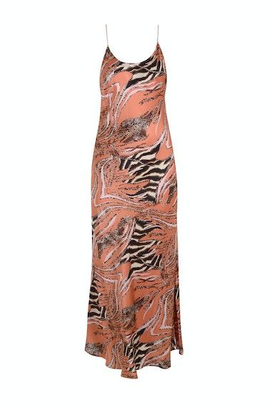 Monika the Label Camille Animal Print Slip Dress