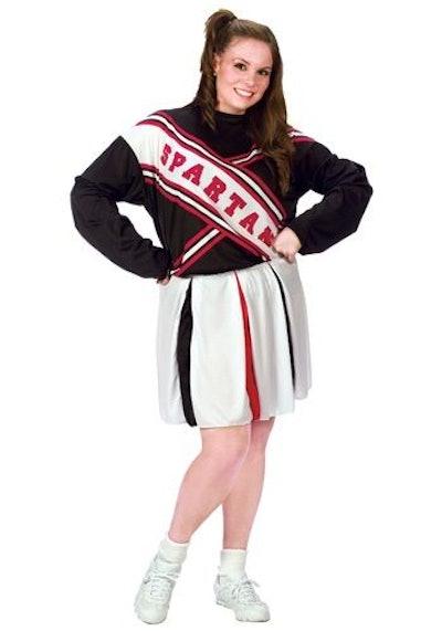Plus Size Female Spartan Cheerleader Costume