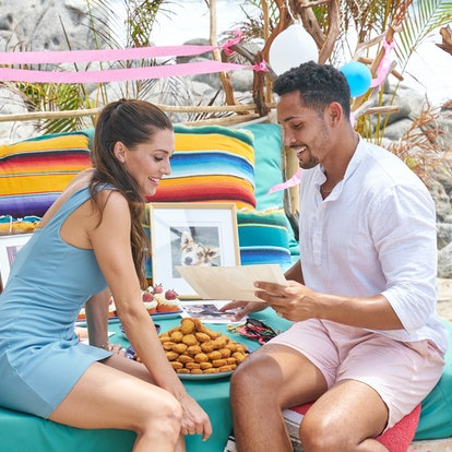 Becca Kufrin and Thomas Jacobs hang out on the beach during 'Bachelor in Paradise' Season 7.