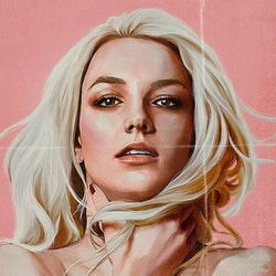 A drawing of Britney Spears for the poster of Netflix's documentary 'Britney vs. Spears'