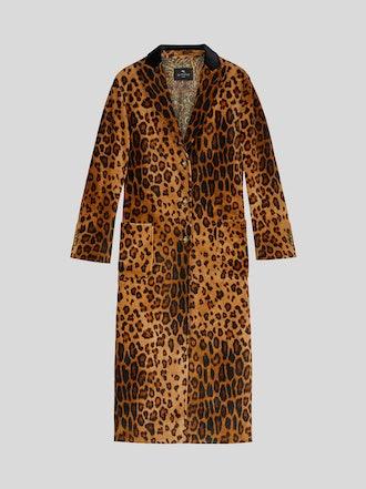 Animal Print Velvet Coat