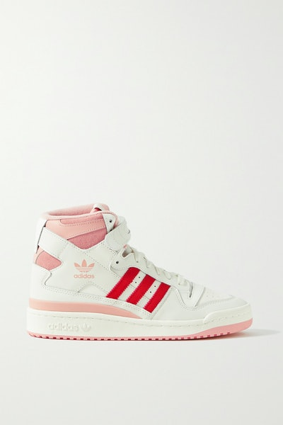 Adidas Originals Forum 84 Leather and Suede High-Top Sneakers