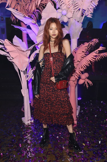 HoYeon Jung at a Marc Jacobs party.