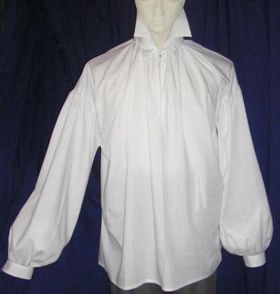 Mens Regency High Neck Cotton Dress Shirt