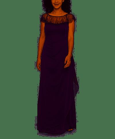 DJ Jaz Short Sleeve Embellished Evening Gown