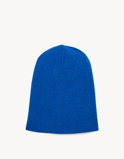 Flat lay of kids beanie hat