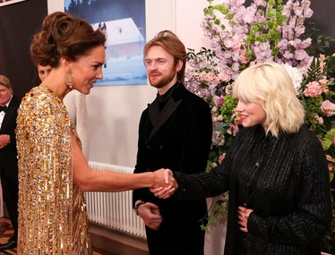 Kate Middleton meeting Billie Eilish at the 'No Time to Die' premiere