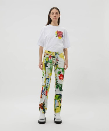Floral Pattern Jeans by Alessandro Calabrese for MSGM