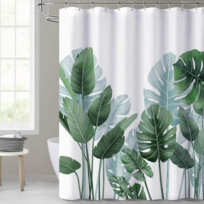 KGORGE Tropical Leaves Shower Curtain