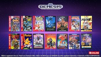 switch online genesis games list