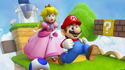 Nintendo characters Princess Peach and Mario.