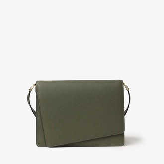 Twist Shoulder Bag in Green Militar from Valextra.